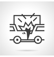Car crash icon vector image vector image