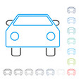 car stroke icon vector image