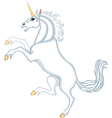 Cartoon heraldic unicorn vector image