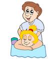 cartoon massage vector image