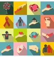 Charity flat icons vector image vector image