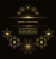 christmas poster with snowflakes vector image vector image
