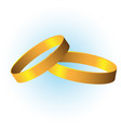classic wedding rings vector image vector image