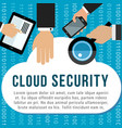 cloud security poster for data storage design vector image vector image