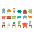 collection of different types seating armchairs vector image vector image