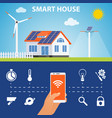 concept of smart house or smart home vector image