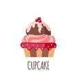 Cute cupcake icon vector image