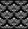 damask seamless pattern bfloral black vector image vector image