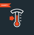 Donation thermometer - charity and telethon icon vector image vector image