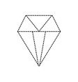 dotted shape brilliant crystal diamond and vector image vector image