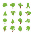 ecology set flat pictures of green vector image vector image