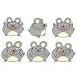 Fat mouse cartoon vector image