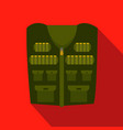 flat design icon of hunter vest deep green vector image