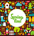 flat spring time greeting vector image vector image