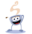 Funny coffee cup vector image