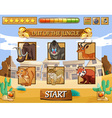 Game template with wild animals as characters vector image