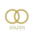 Golden rings emblem vector image