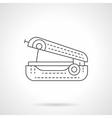Handheld sewing machine flat line icon vector image vector image
