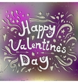 Happy Valentines day typographical holiday card vector image