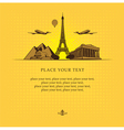 historical sights vector image vector image