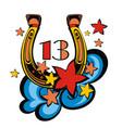 horseshoe symbol or label vector image vector image