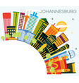johannesburg south africa city skyline with color vector image vector image
