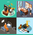 law justice isometric concept vector image