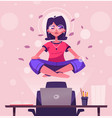 meditation health benefits for body mind and vector image vector image