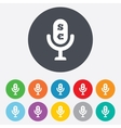 Microphone icon Speaker symbol Paid music sign vector image vector image