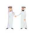 muslim business men shaking hands vector image vector image