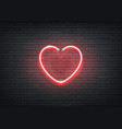 neon heart red signage bar night club vector image vector image