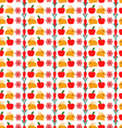 pattern with cute cartoon bunny and carrot vector image vector image