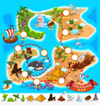Pirate Treasure Map vector image vector image