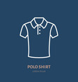 polo shirt icon clothing shop line logo flat vector image vector image