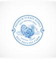 premium turkey farm framed retro badge or logo vector image vector image