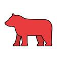 red bear symbol vector image