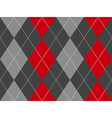 Red gray argyle fabric texture seamless pattern vector image vector image
