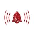 Red grunge alarm clock logo