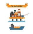 Sea oil rig offshore platform technology flat vector image vector image