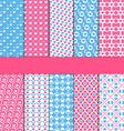 set 10 seamless love patterns vector image