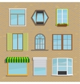 set icons different types windows vector image vector image
