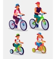Set of adults and children vector image vector image