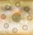 Set of flat design concept icons for weather on vector image
