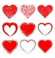 Set of Hand Drawn Grunge Hearts vector image vector image