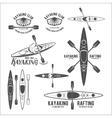 set vintage rafting labels vector image