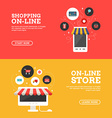 Shopping On-line Online Store Set of Flat Design