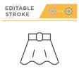 skirt editable stroke line icon vector image