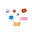 social media symbols icon set like heart vector image