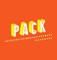 stock bulk sans serif font in comic style vector image