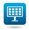 Storing files in computer icon simple style vector image vector image